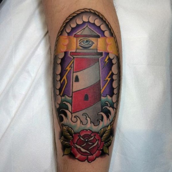 New-School-Lighthouse-Tattoo-by-Pat-Whiting-578x578