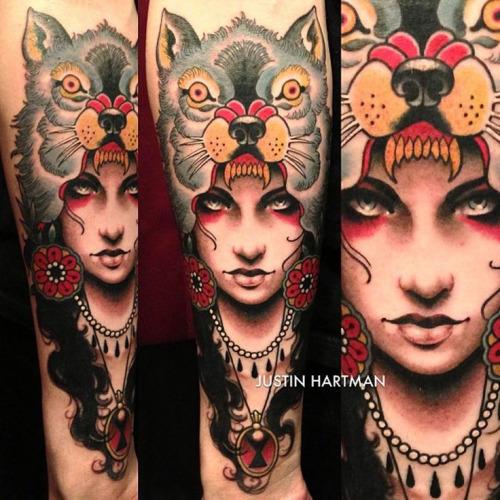 Wolf-Cowl-Tattoo-by-Justin-Hartman
