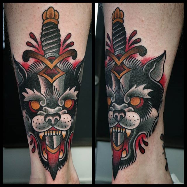 Traditional Wolf: All Things Tattoo
