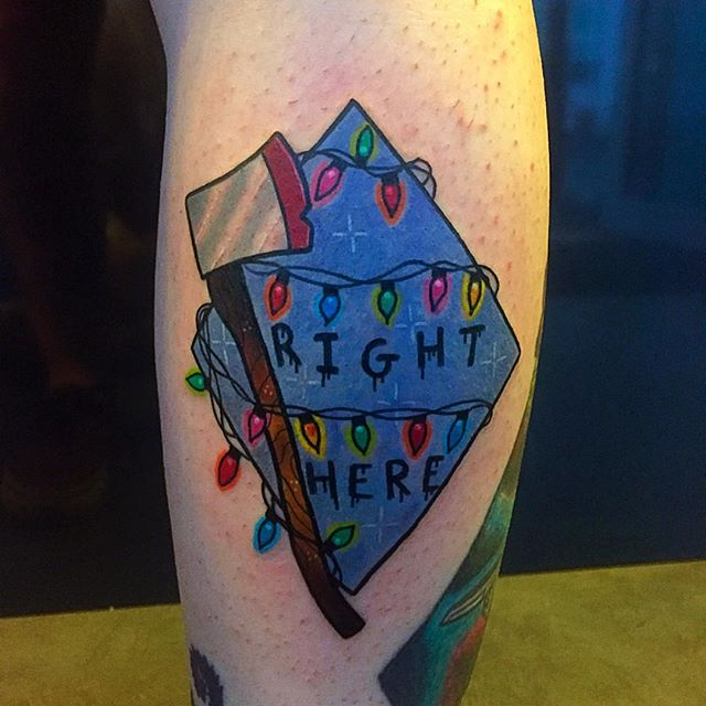 stranger things %22right here%22 and lights done by Matt Daniels at Studio IX in Manchester UK
