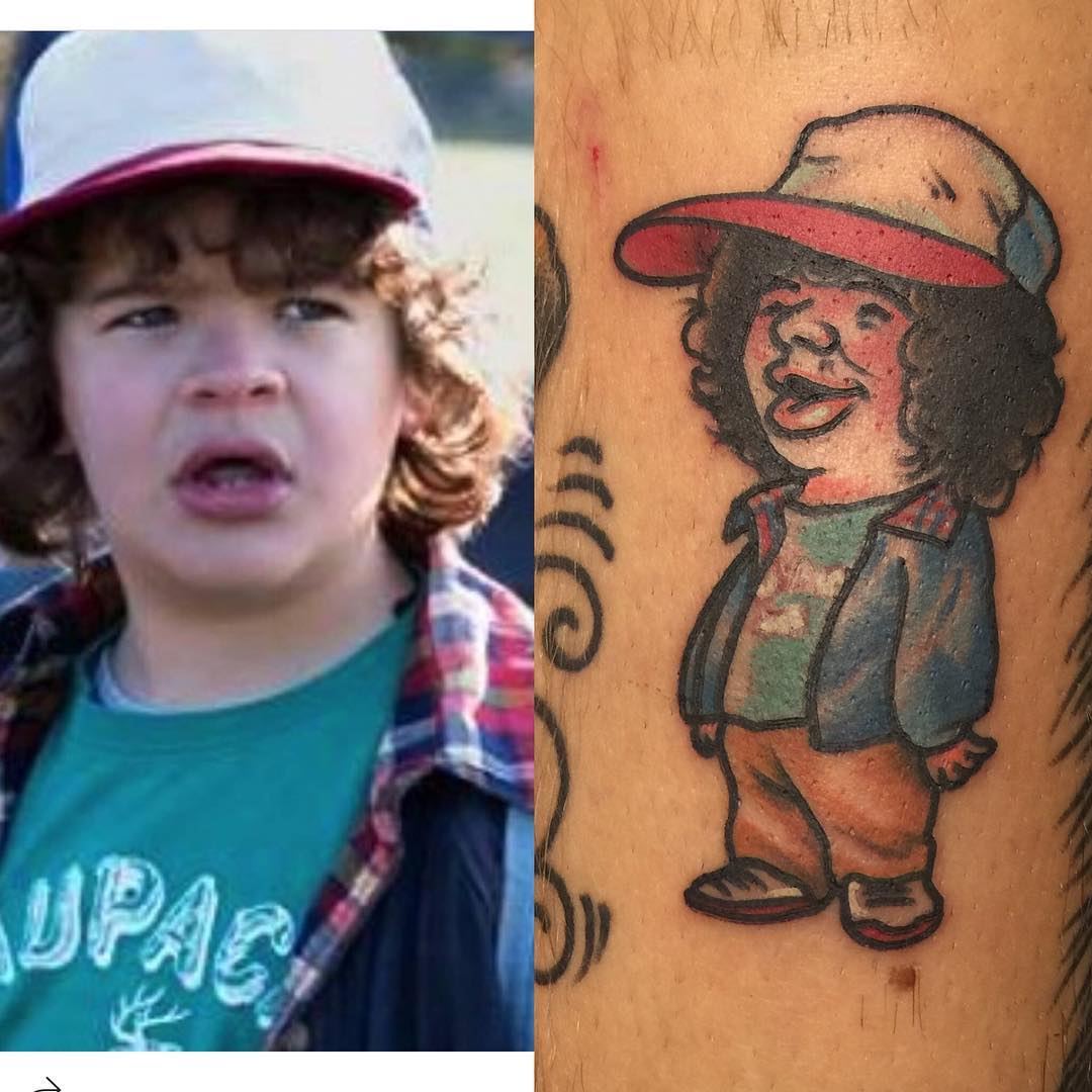 Stranger things Dustin by jeremy Zettler at Perfect Image tattoo, ONtario