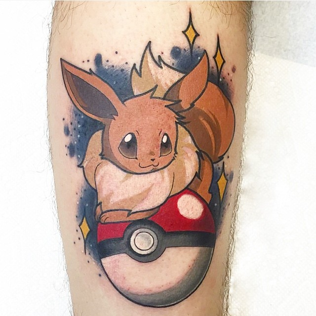 pokemon Jackie Huertas at Davinci Tattoo in Wantagh, NY