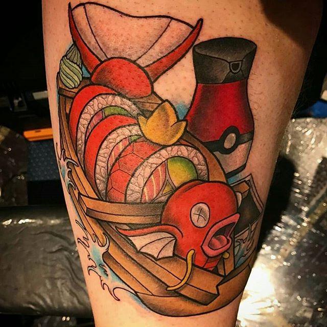 pokemon Michael Mankin at Studio 13 Tattoo