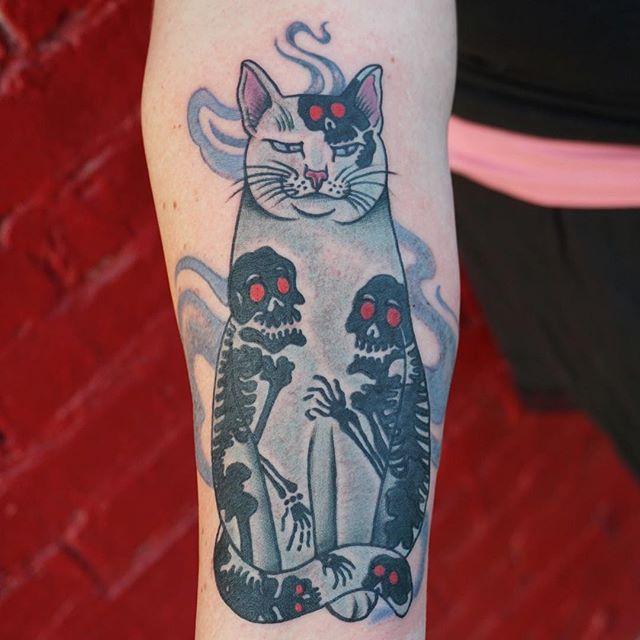 cat Amber Bananafish at Bananafish Tattoo Parlour