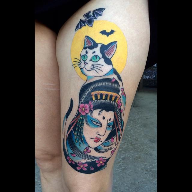 cat Heather Sinn at Tattoo Room in Simi Valley CA