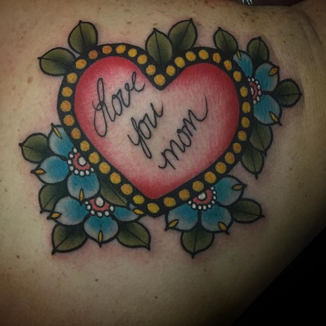 mom by Koty Nyman at Heart and Soul tattoo