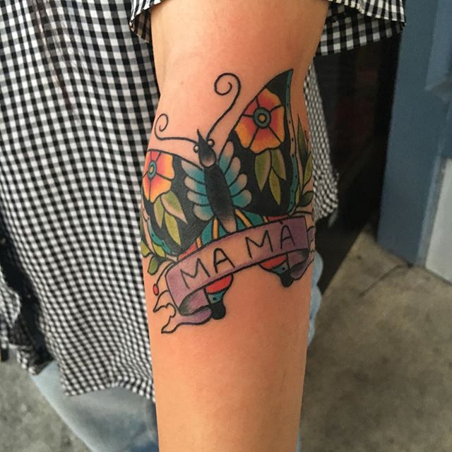 Mom Ivan Castro at True Heart Tattoo in California