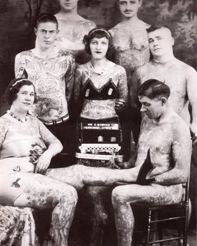 Tattoo History with a group of Tattoo Enthusiast