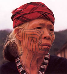 Li face tattoo 1980