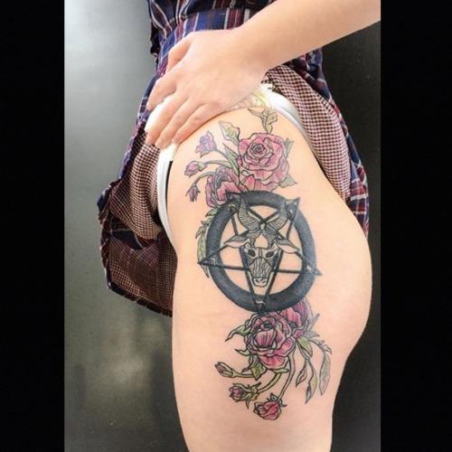 baphomet Brooke Ashliegh at Binx Tattoo