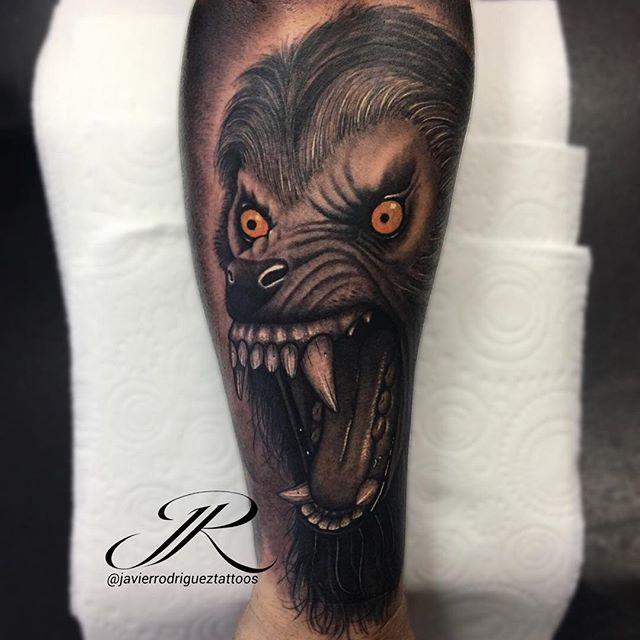 Javier Rodriguez Tattooist Resident Artist at🔹IMMORTAL ART STUDIO american werewolf