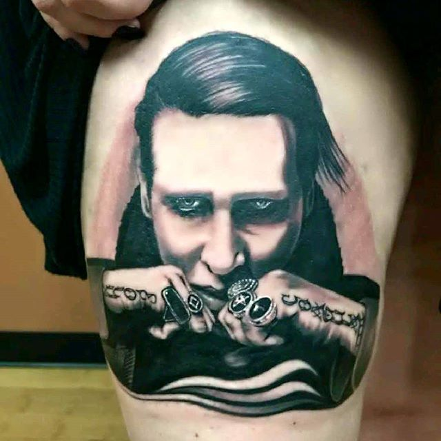 Manson Johnny Scillieri at Ace Tattoo in Glendale AZ