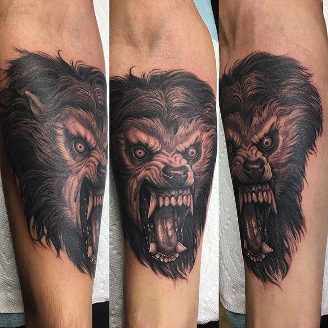Matt Perlman Aces High Tattoos West Palm Beach Fl american werewolf in london