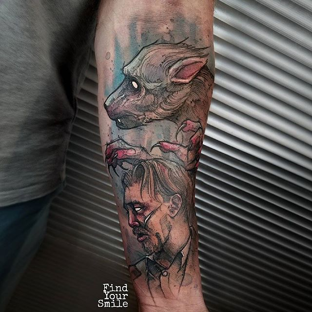 Russell Van Schaick Orlando, FL World Famous Tattoo remus lupin