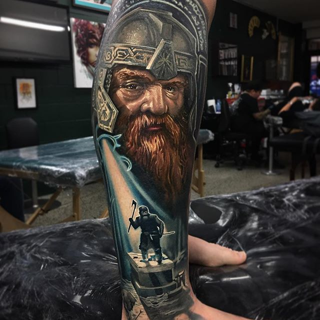 Ben Kaye Tattooer & part owner of Ship Shape tattoo, New Zealand