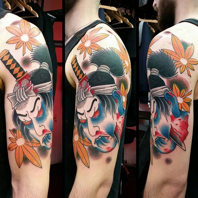 Matteo Ceccarini ◇JAPANESE TATTOOING◇ Black Line Tattoo Studio, Mallorca:Extreme Needle Tattoo Studio, London