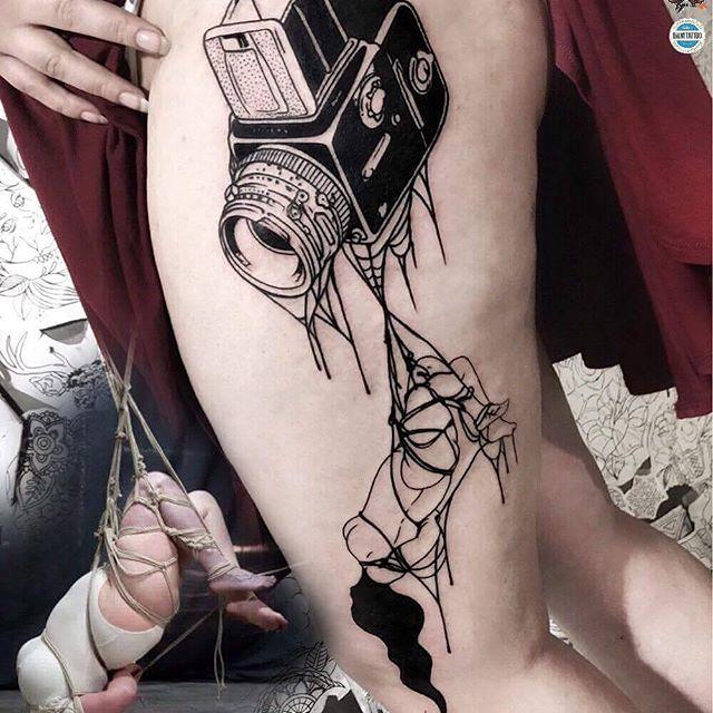 Ufoo Tattoo ✖️Dark Comics Work✖️Blackwork✖️ working at Kult Tattoo Fest